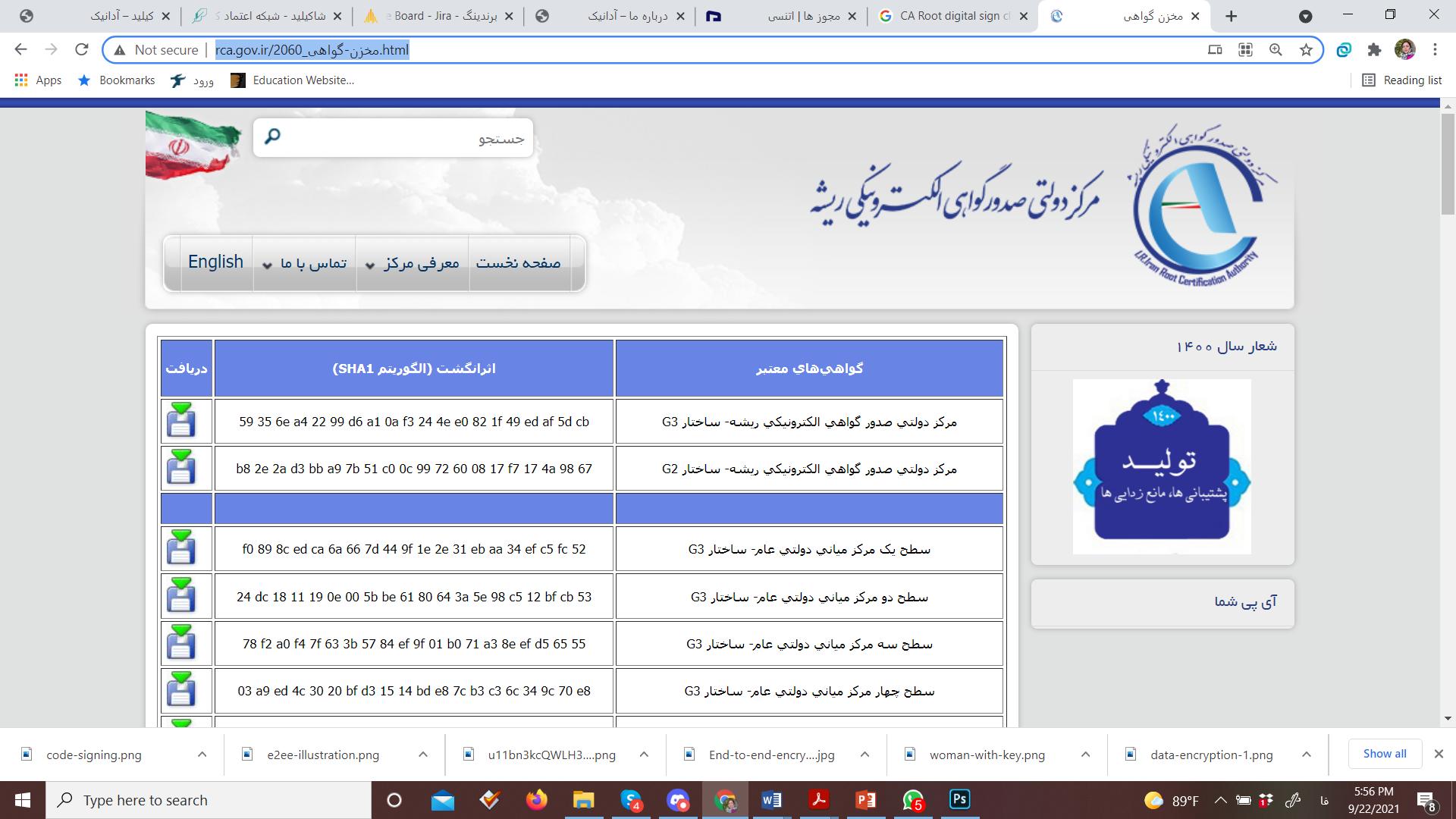 دفاتر خدمات صدور گواهی الکترونیکی در ایران